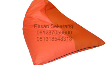 Sewa Bean Bag Merah Orange